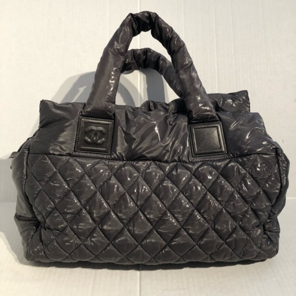 d34afb83b0f1 CHANEL Handbags - Chanel Coco Cocoon Boston Quilted Nylon Tote Bag
